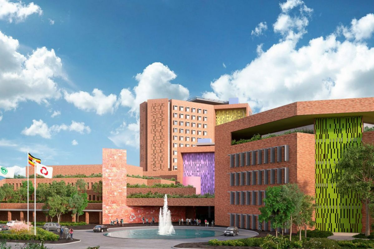 Architectural rendering of Aga Khan University Hospital Kampala