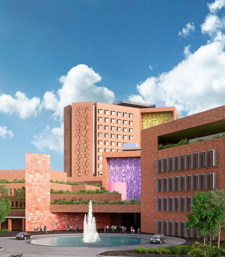Architectural rendering of Aga Khan University Hospital Kampala
