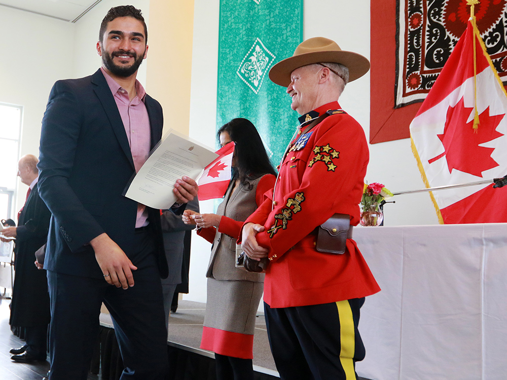 Canadian Citizenship Ceremony at the Ismaili Jamatkhana in Calgary