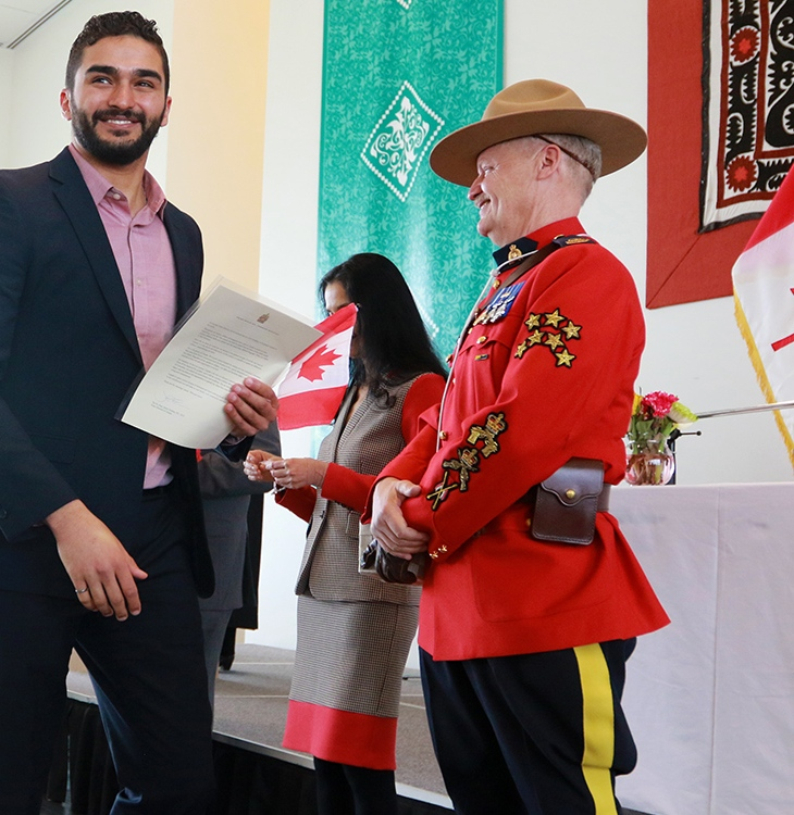 Canadian Citizenship Ceremony at the Ismaili Jamatkhana in Calgary