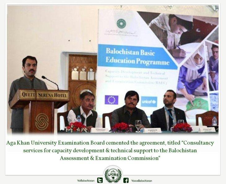 Aga Khan University Examination Board (AKU-EB) signs accord with Balochistan govt and Unicef