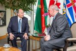 Premier of British Columbia welcomes His Highness the Aga Khan