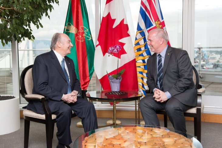 His Highness the Aga Khan with the Honourable John Horgan, Premier of British Columbia