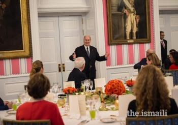 May 1, 2018: Governor General of Canada, Right Honourable Julie Payette, hosts dinner at Rideau Hall in honour of Mawlana Hazar Imam's Diamond Jubilee.