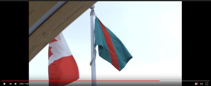 Ismaili Flag raising ceremony at Mulgrave School Vancouver, celebrating community, commemorates the Diamond Jubilee of His Highness the Aga Khan