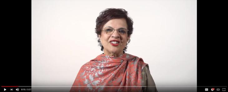 Senator Mobina Jaffer congratulates His Highness the Aga Khan