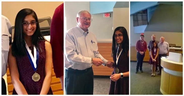 Sanya Pirani, 6th grader wins first place in Glen Lake OratoricalEssay contest