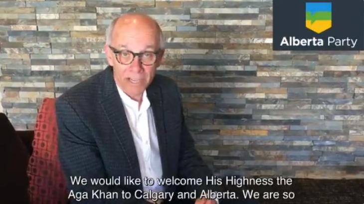 Alberta Party Leader Stephen Mandel welcomes His Highness the Aga Khan
