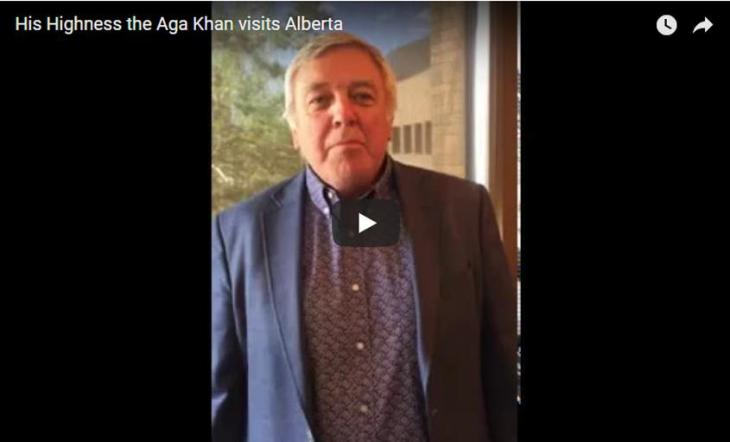Mayor of the City of Lethbridge, Chris Spearman sends Diamond Jubilee greetings to His Highness the Aga Khan and the Ismaili Community