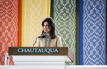 Chautauqua Interfaith Lecture: Zahra Jamal details Muslim ethics at intersection of food and faith