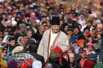 His Highness the Aga Khan with members of his community in Porshniev, Khorog, Tajikistan, 2008. - Photo credit: AKDN / Akbar Hakim