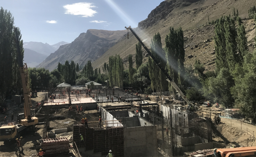 Under construction: Aga Khan Medical Centre, Khorog