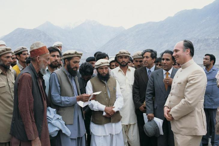 His Highness the Aga Khan meets with the inhabitants of the northern areas of Pakistan