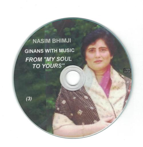 Nasim Bhimji: Ginans with Music - From My Soul To Yours   CD 3