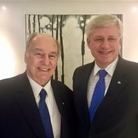 Former Canadian Prime Minister Stephen Harper with His Highness the Aga Khan, in London