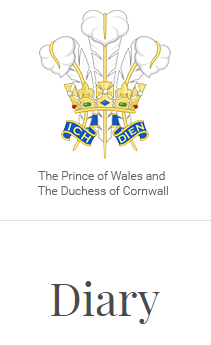 Diary: The Prince of Wales
