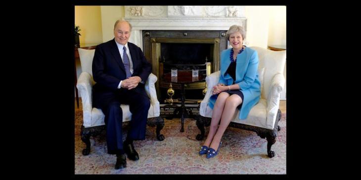 UK Prime MinisterTheresa May meets His Highness the Aga Khan