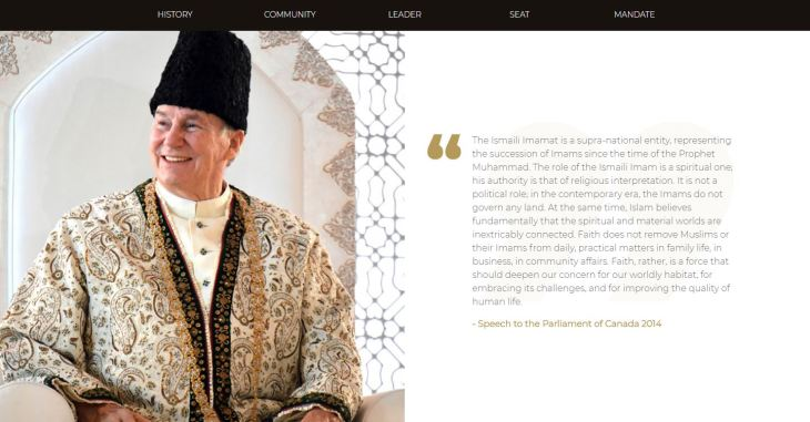 Ismaili Imamat launches a new, permanent presence on the Internet