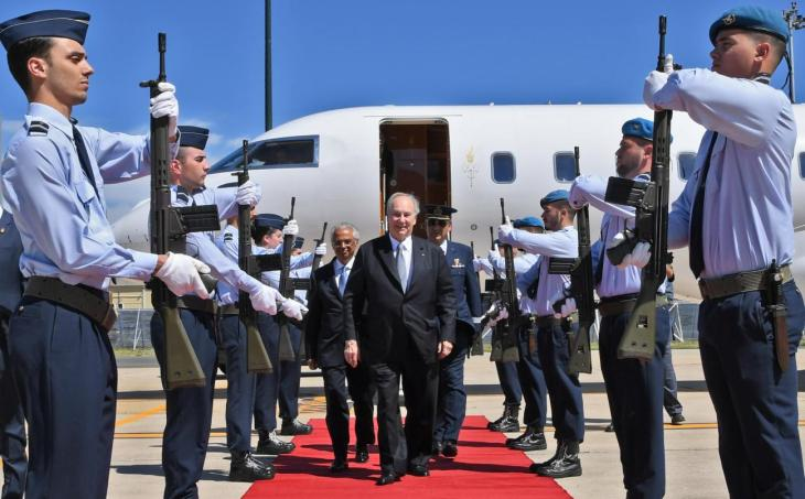 His Highness the Aga Khan arrives in Lisbon, Portugal to Military Honours on the occasion of his Diamond Jubilee. His Highness was received by Head of State Protocol Ambassador, Clara Nunes dos Santos, Diplomatic Representative of the Ismaili Imamat Portugal, Nazim Ahmad and Aga Khan Council for Portugal President, Rahim Firozali. His Highness was also greeted by Ambassador Ana Martinho, Senior Diplomatic Adviser to the President of the Republic, Bruno Tavares, Diplomatic Adviser to the President of Parliament, and Manuela Galhardo, State Protocol Officer. Imamat and leadership from the Ismaili Community were also present to welcome His Highness. | AKDN / Zahur RamjiClose