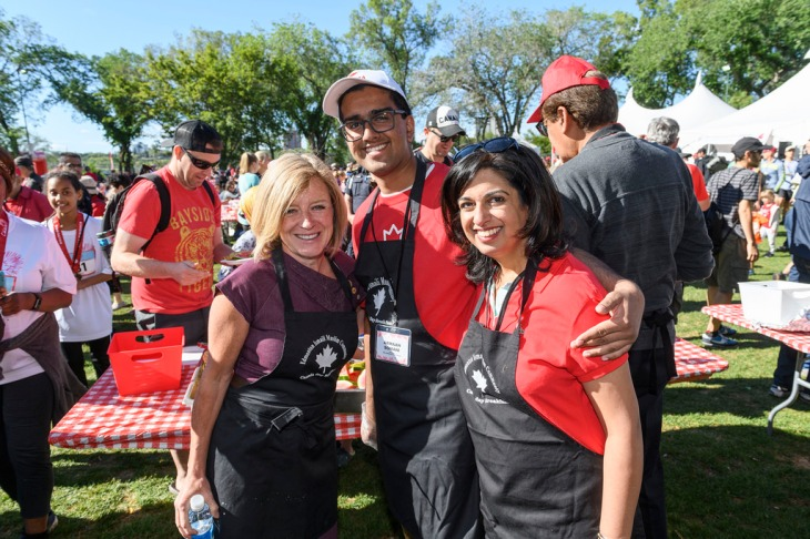 Premier Notley at Aga Khan pancake breakfast