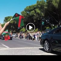 Video of His Highness the Aga Khan's arrival in Lisbon, Portugal