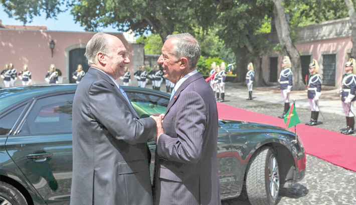 His Highness the Aga Khan meets Portugal president Marcelo Rebelo de Sousa