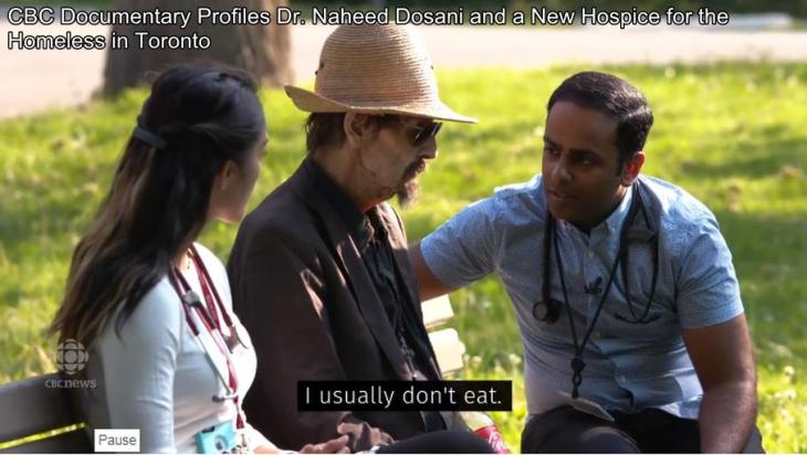 CBC Documentary Profiles Dr. Naheed Dosani and a New Hospice for the Homeless in Toronto