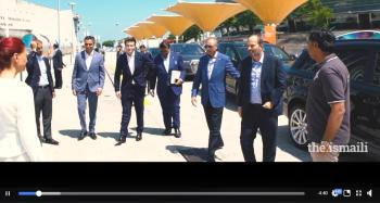 Video: Prince Hussain and Prince Aly Muhammad's visit to the International Arts Festival at the His Highness the Aga Khan's Diamond Jubilee Celebration in Lisbon, Portugal