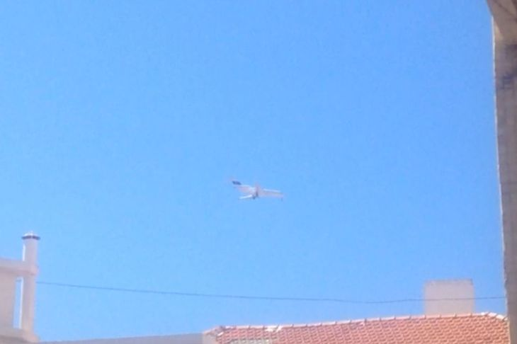 Mowla's plane sighted descending in Lisbon