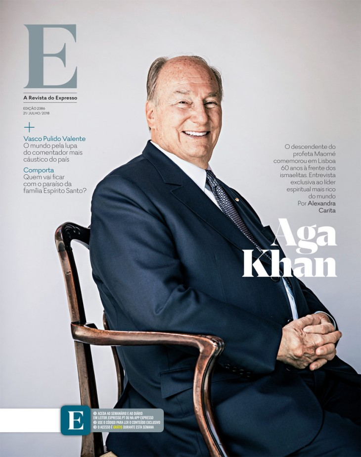 Expresso Magazine Article on His Highness the Aga Khan in Lisbon, Portugal