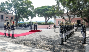 Portuguese Heads of State and Government offer His Highness the Aga Khan a State Welcome