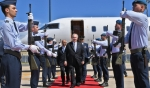 His Highness the Aga Khan arrives in Lisbon at the start of his Diamond Jubilee visit to Portugal