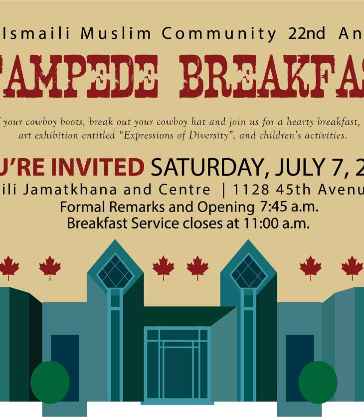 Ismaili Muslim Community to Host 22nd Annual Stampede Breakfast 2018 in Calgary