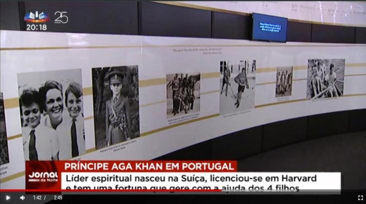 Prince Aga Khan makes his first public appearance in Lisbon (video)