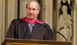 His Highness the Aga Khan delivering the Columbia University School of International and Public Affairs' Commencement Address, at the Riverside Church, New York. AKDN / Zahur Ramji