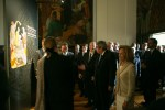 His Highness the Aga Khan tours the exhibition Ideals of Leadership: Masterpieces from the Aga Khan Museum Collections, hosted at the Parliament building, São Bento Palace in Lisbon. AKDN