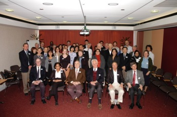 Group from INTERTB Symposium and World Without TB at the symposium held at St George's University of London in 2009. Group from INTERTB Symposium and World Without TB at the symposium held at St George's University of London in 2009 Professor Mitchison attended all symposia including the one in 2017 where he addressed the audience from his wheelchair