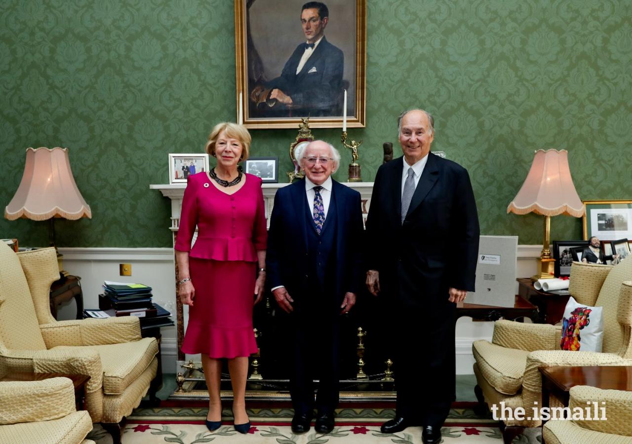President of Ireland Honours Diamond Jubilee of His Highness the Aga Khan