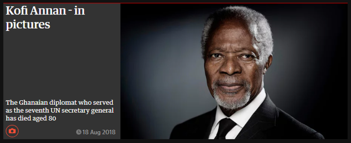 Kofi Annan - in pictures | The Guardian