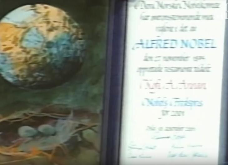 Watch Kofi Annan awarded the Nobel peace prize in 2001