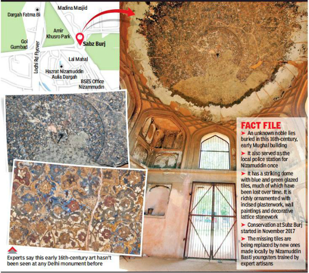 Aga Khan Trust for Culture's conservators discover hidden Mughal treasure near Humayun's tomb
