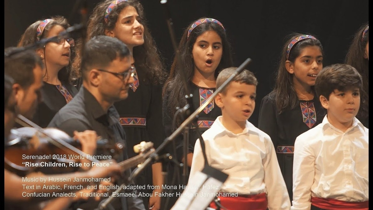Nai Syrian Children's Choir Premiere Hussein Janmohamed's Rise Children, Rise to Peace