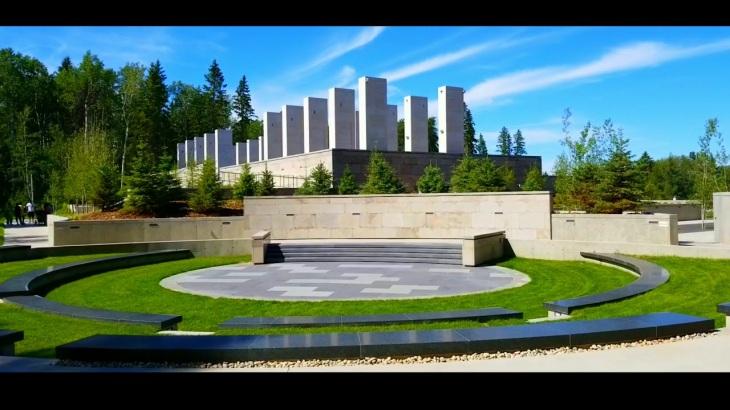 Take a walking video tour of Aga Khan Garden Alberta, Canada