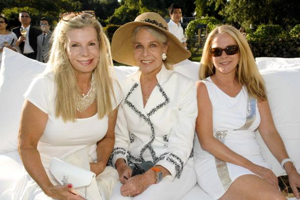 WATER MILL, NY - AUGUST 7, 2010: (L-R) Princess Yasmin Aga Khan, Frances Hayward and Anne Hearst McInerney. (Photo by ADRIEL REBOH/Patrick McMullan via Getty Images)