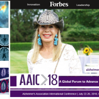 Princess Yasmin Aga Khan's 35 years support draws 6,000 attendees from 68 countries for the Alzheimer's Association international conference, reports Forbes Magazine