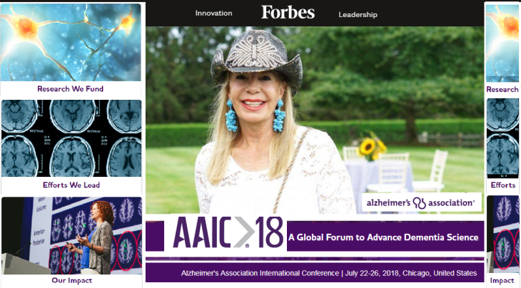 Princess Yasmin Aga Khan's 35 years support draws 6,000 attendees from 68 countries for the Alzheimer's Association international conference.