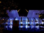 Aga Khan Museum in Toronto lit up for Lapis Ball