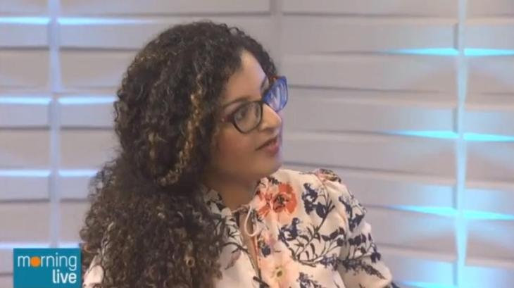 Shahzadi Devje on Morning Live TV
