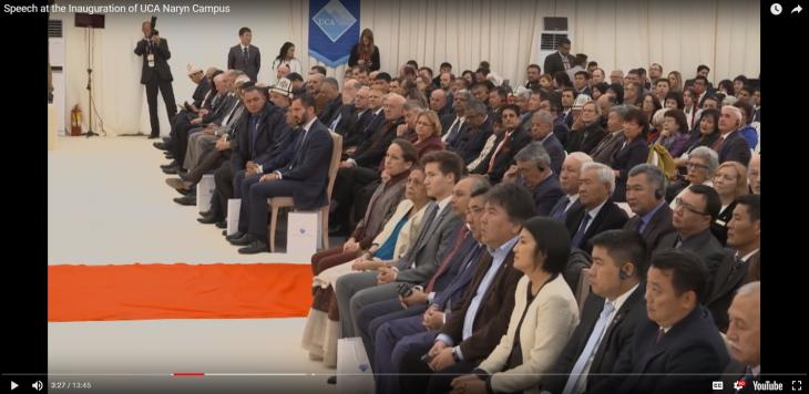 Speech at the Inauguration of UCA Naryn Campus