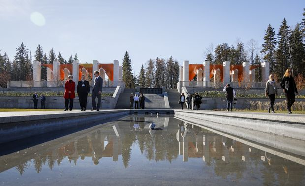 Aga Khan oversees official launch of Alberta garden | Globe & Mail
